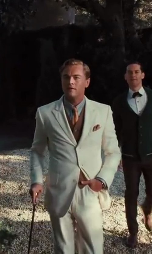 Leonardo DiCaprio with Hareford Slim Fit Formal Shirt in The Great Gatsby