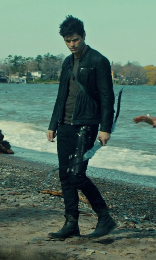 Matthew Daddario with H by Hudson Swathmore Boots in Shadowhunters
