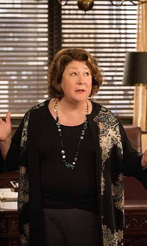 Margo Martindale with Patchington Cardi With Multi Trim Sweater in The Good Wife
