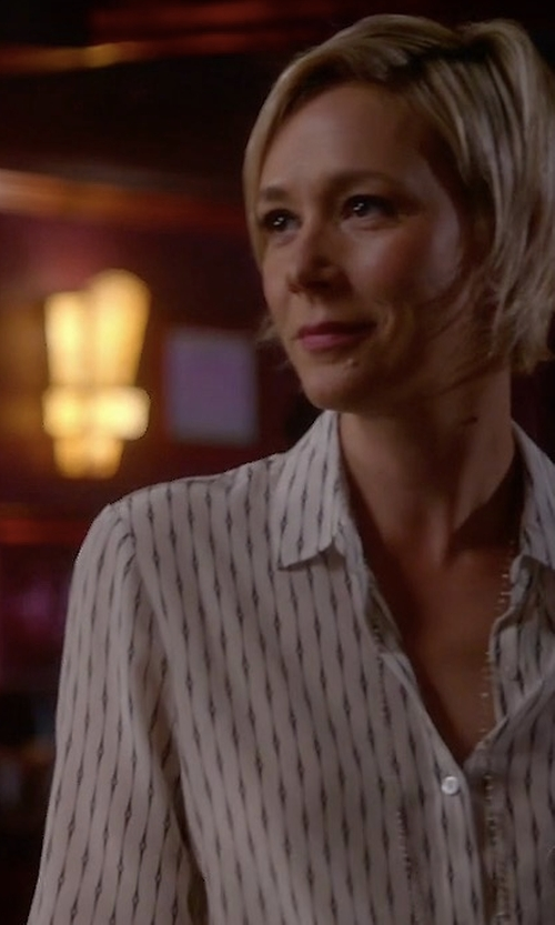 Liza Weil with The Kooples 'Fantasy' Silk Shirt in How To Get Away With Murder