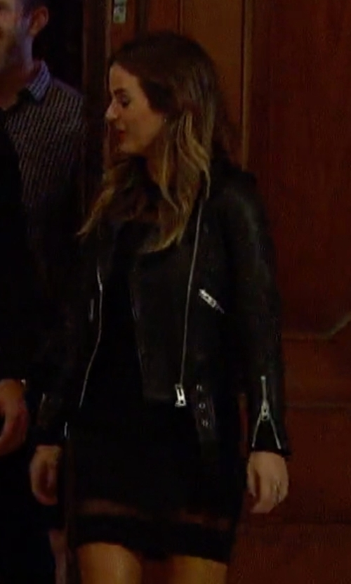 JoJo Fletcher with Blank NYC Motorcycle Jacket in The Bachelorette