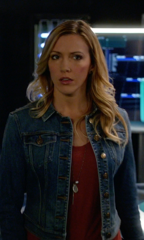 Katie Cassidy with Paige Rowan Jacket in Arrow