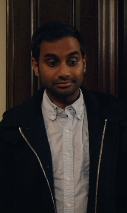 Aziz Ansari with Tomas Maier Button Down Collar Shirt in Master of None