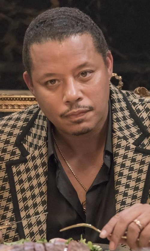 Terrence Howard  with Gucci Houndstooth Two-Button Sportcoat in Empire
