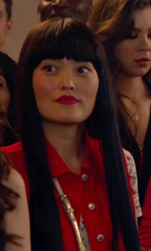 Hana Mae Lee with Rebecca Mini M.A.C. Crossbody Bag in Pitch Perfect 2