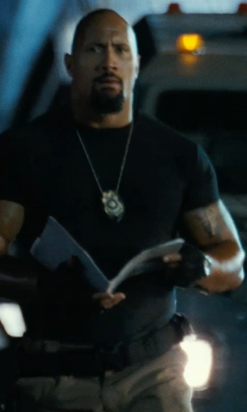 Dwayne Johnson with Rapdom Tactical Half Finger Gloves in Fast Five