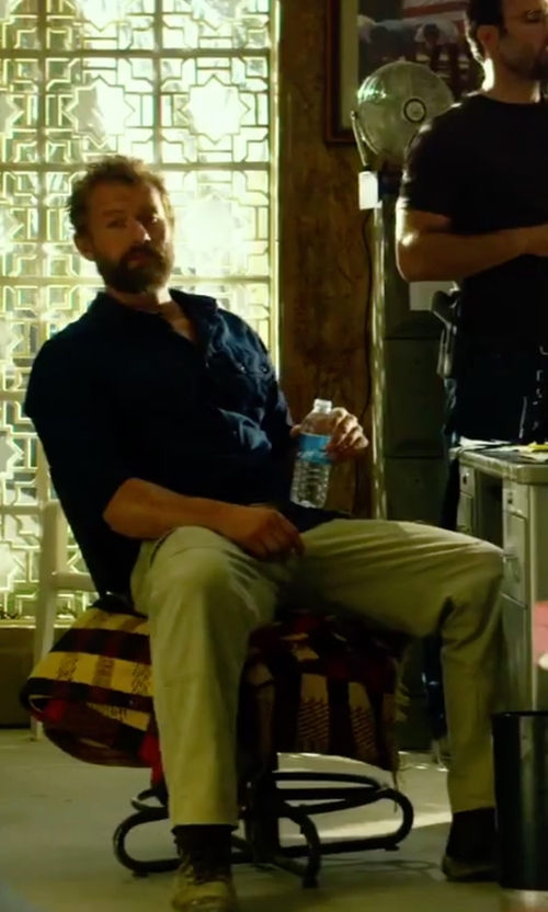 James Badge Dale with J. Crew Regular Fit Chino Pants in 13 Hours: The Secret Soldiers of Benghazi