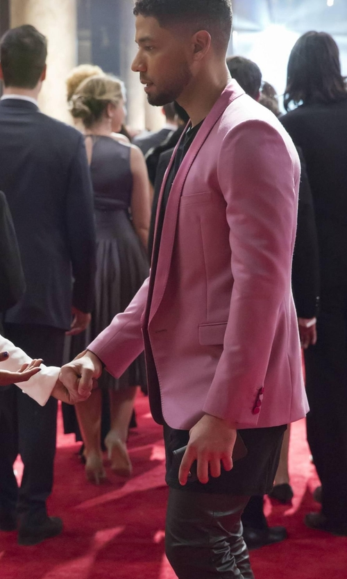 Jussie Smollett with Saint Laurent Tuxedo Blazer in Empire