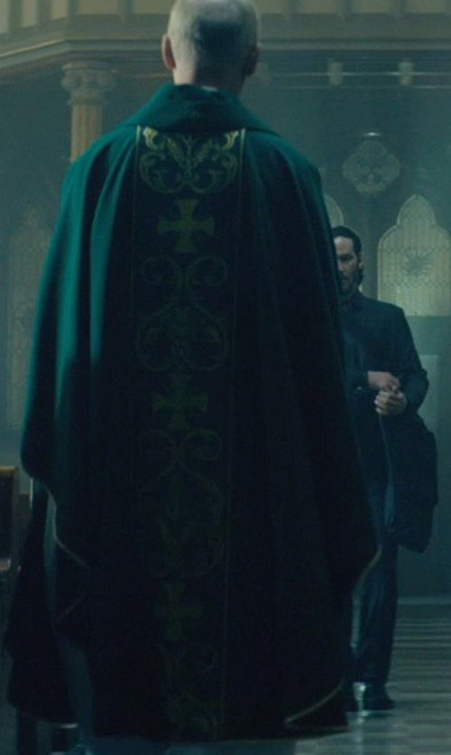 Munro M. Bonnell with Christian Brands Catholic Loaves and Fishes Chasuble in John Wick