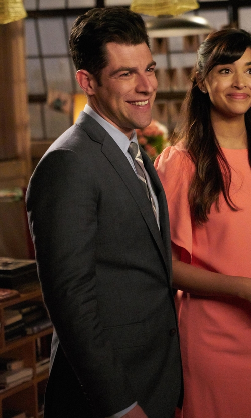 Max Greenfield with Hugo Boss  Classic-Fit Grand Central Solid Two-Piece Suit in New Girl
