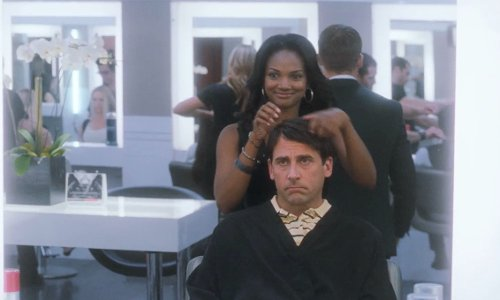 Steve Carell with Christophe Salon Beverly Hills, CA in Crazy, Stupid, Love.