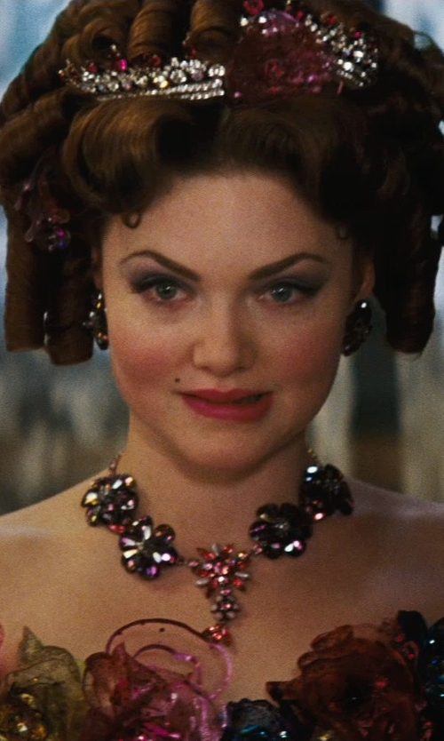 Holliday Grainger with Sandy Powell (Costume Designer) Custom Made Floral Rhinestone Necklace (Anastasia) in Cinderella