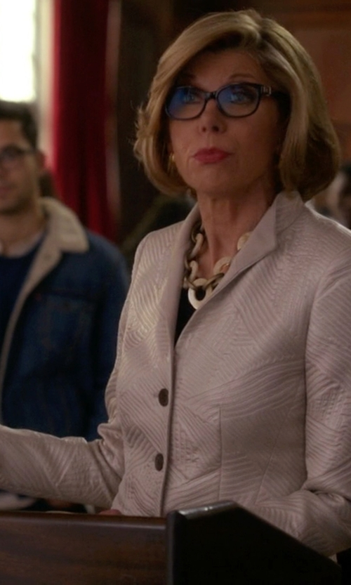 Christine Baranski with Emporio Armani Single Breasted Blazer in The Good Wife