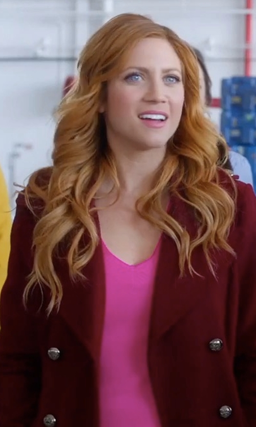 Brittany Snow with Tommy Hilfiger Boiled Wool Topcoat in Pitch Perfect 3