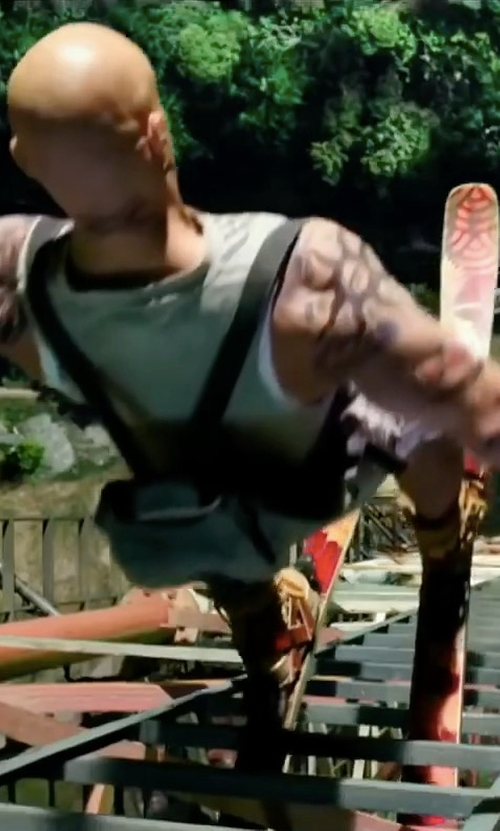 Vin Diesel with Atomic Redster FIS D2 GS Race Skiboards in xXx: Return of Xander Cage