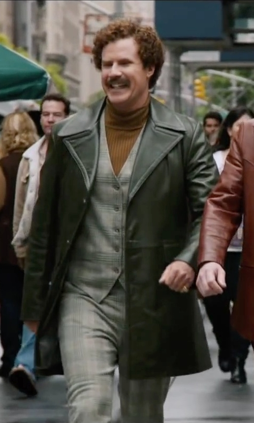 Will Ferrell with Golden Goose Turtleneck in Anchorman 2: The Legend Continues
