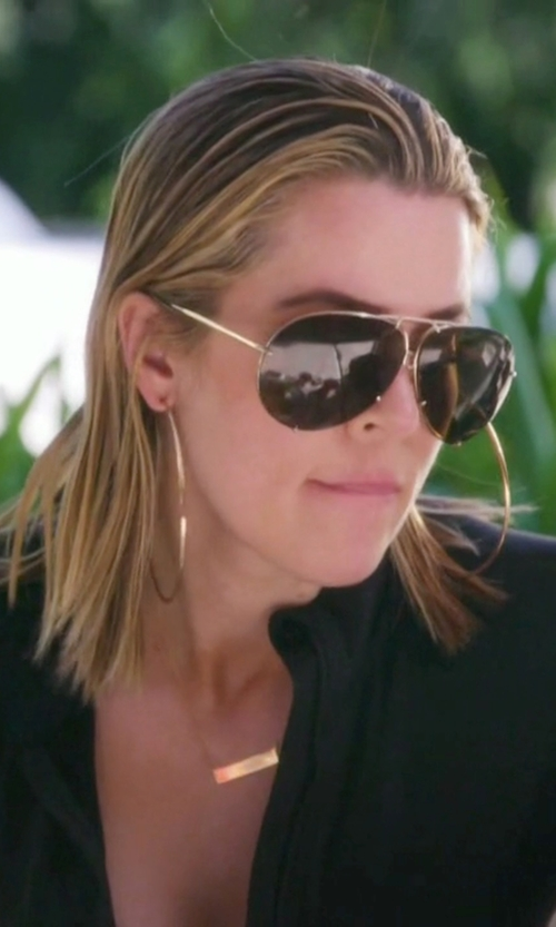 Khloe Kardashian with Lana Flat Magic Hoop Earrings in Keeping Up With The Kardashians