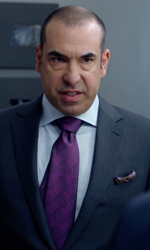 Rick Hoffman with Burberry	 Tonal Check Shirt in Suits