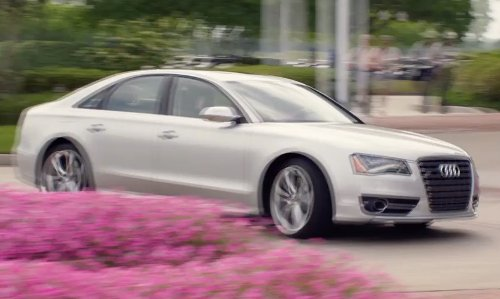 Will Ferrell with Audi S8 Sedan in Get Hard