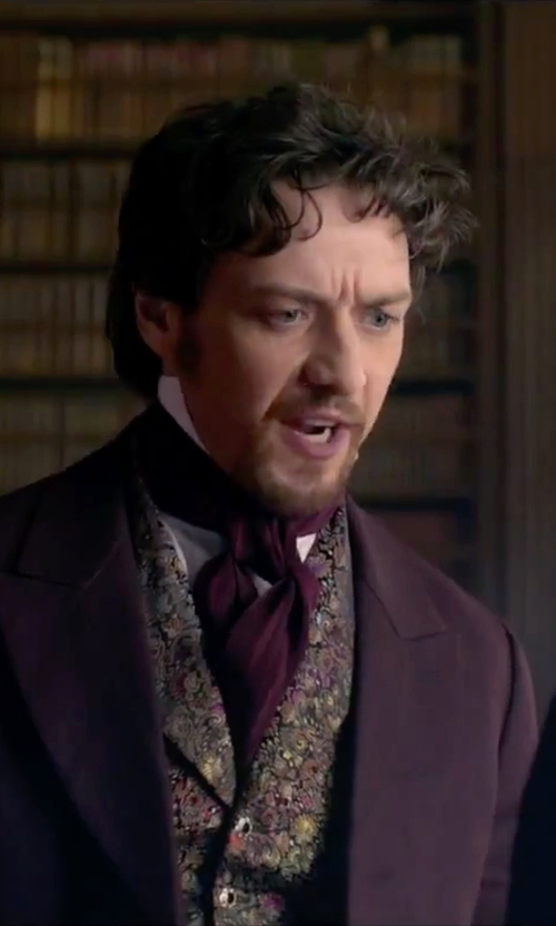 James McAvoy with Weixinbuy Long Silk Scarves/Cravat Ascot in Victor Frankenstein
