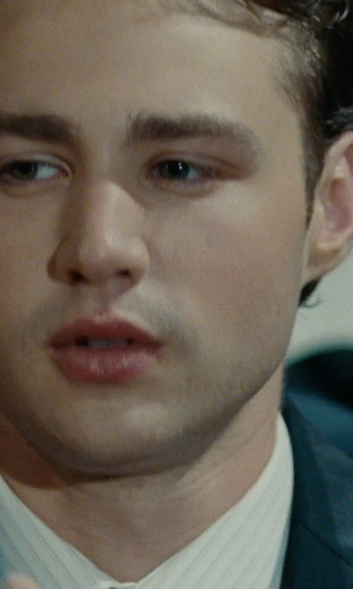 Emory Cohen with Sean John Tonal Stripe Peak-Lapel Jacket in The Place Beyond The Pines