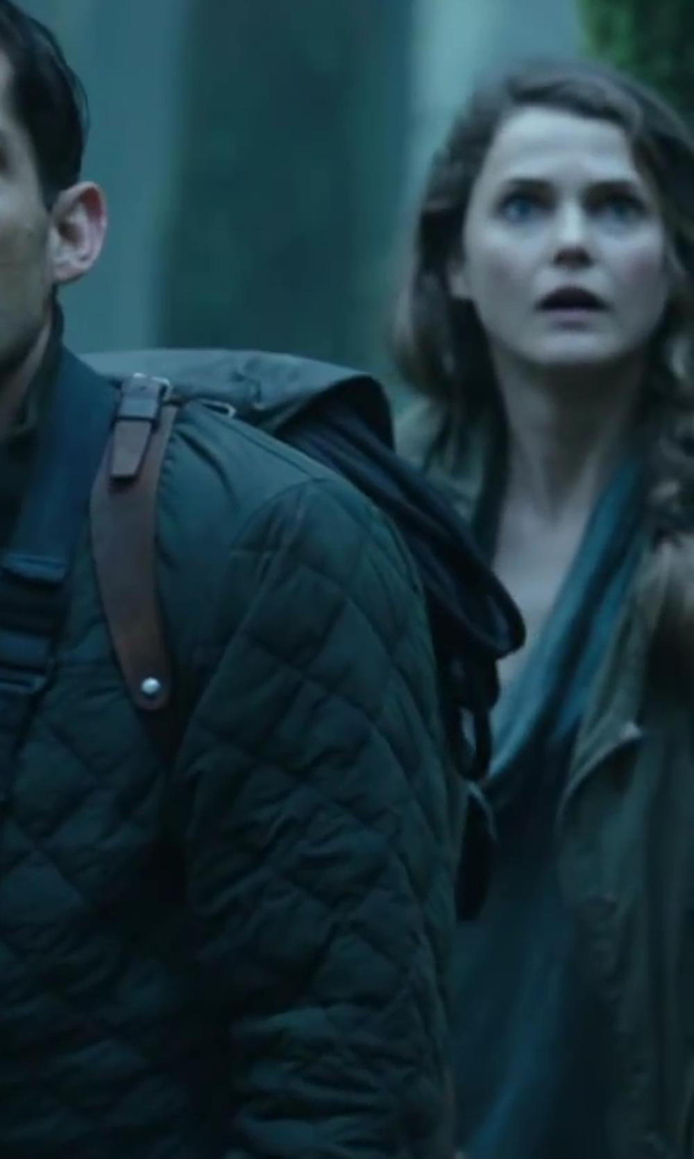 Keri Russell with NORDSTROM Woven Scarf in Dawn of the Planet of the Apes