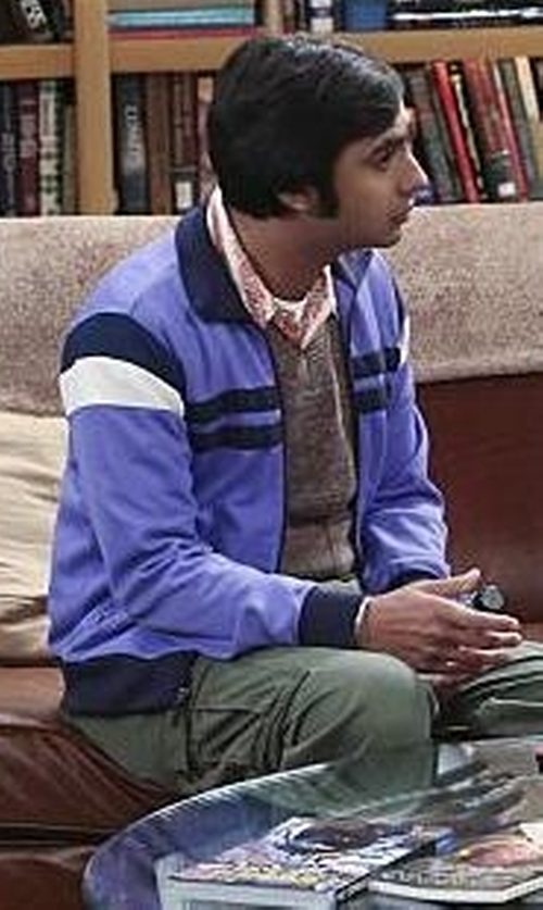Kunal Nayyar with Asics Men's Surge Warm-Up Jacket in The Big Bang Theory