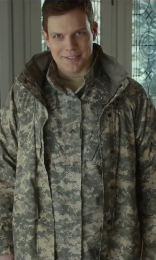 Jake Lacy with Riot Threads Army Digital Camouflage Hyvat Parka Jacket in Love the Coopers