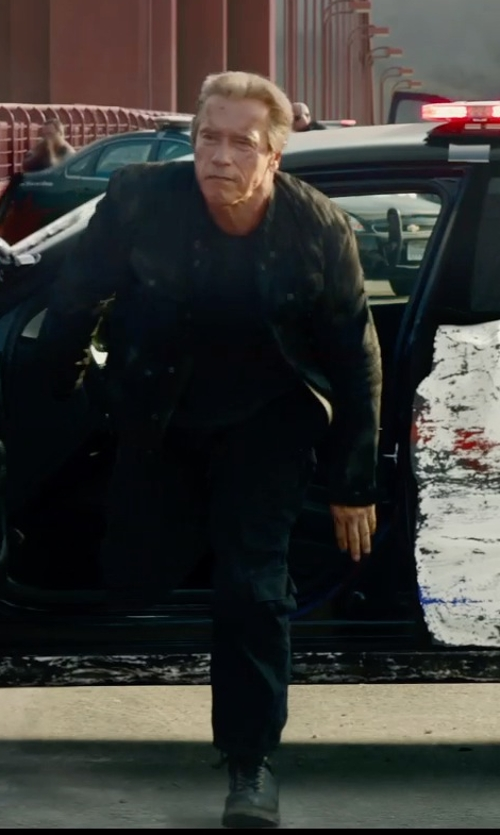 Arnold Schwarzenegger with Stone Island Shadow Project Cargo Trousers in Terminator: Genisys
