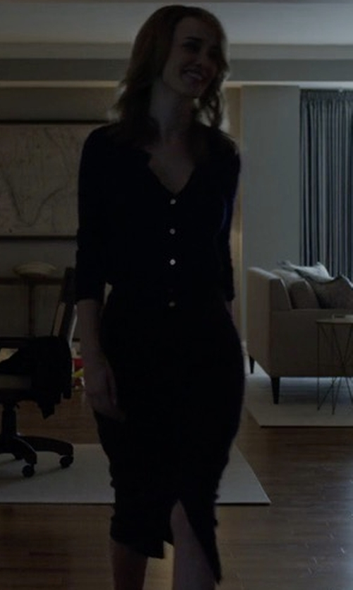 Dominique McElligott with T by Alexander Wang Matte Ponte Pencil Skirt in House of Cards