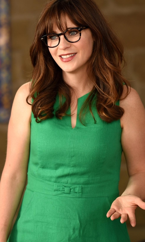Zooey Deschanel with Modcloth Passionate Professional Dress in New Girl
