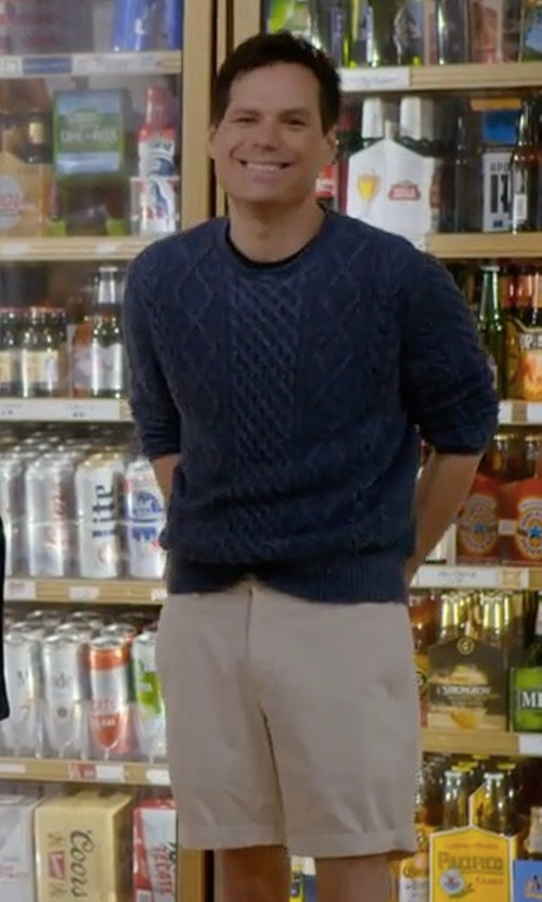 Michael Ian Black with Peter Millar Collection Summertime Twill Shorts in Wet Hot American Summer: Ten Years Later
