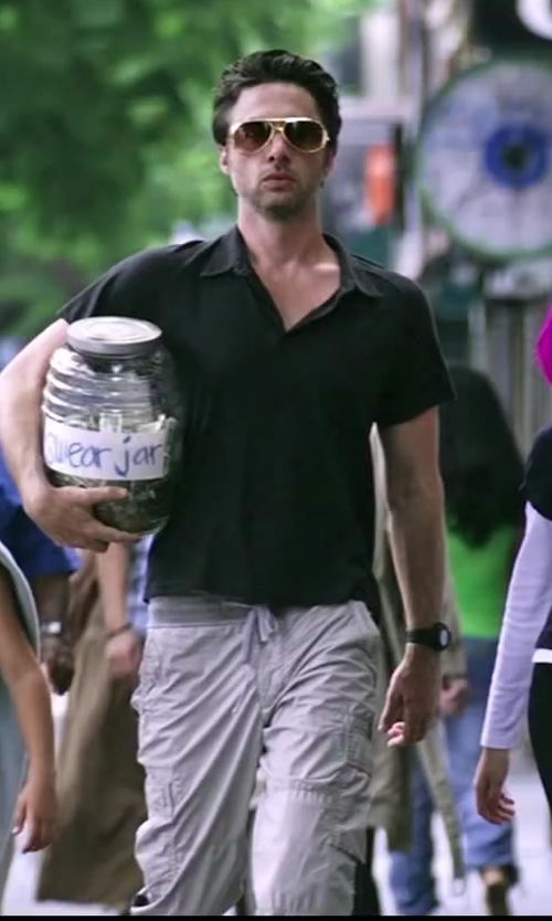 Zach Braff with Oliver Peoples Benedict Basic Polarized Aviator Sunglasses, Java in Wish I Was Here