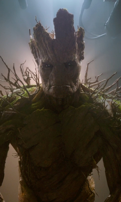Vin Diesel with Charlie Wen (Concept Artist) Groot in Guardians of the Galaxy