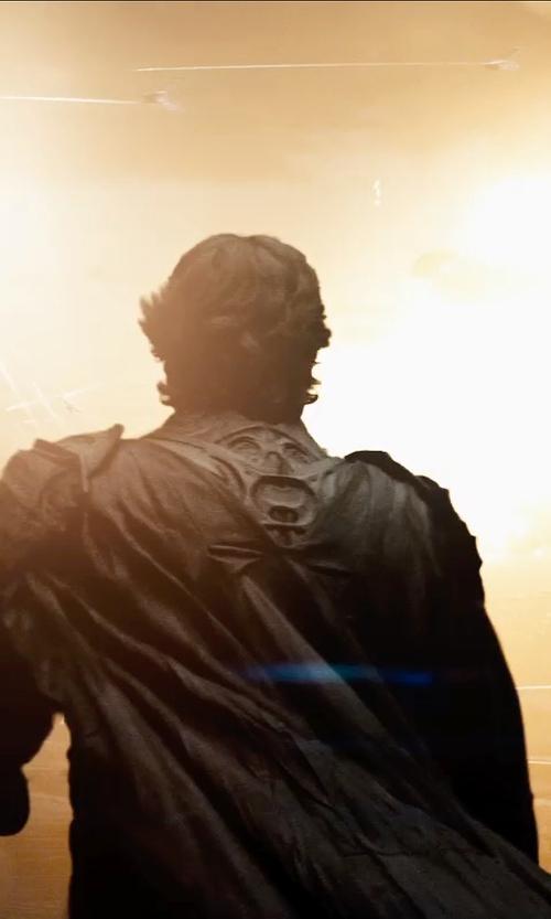Russell Crowe with Michael Wilkinson (Costume Designer) Custom Made Jor-El Armor in Man of Steel