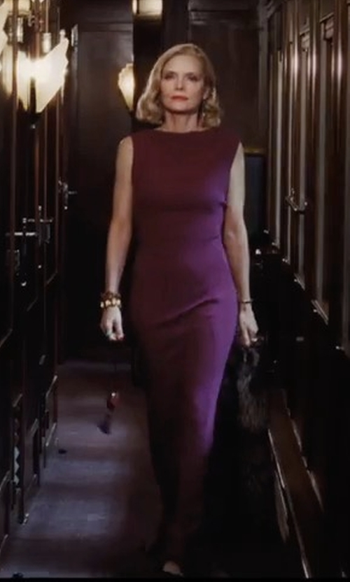Michelle Pfeiffer with MSGM Long Dress in Murder on the Orient Express