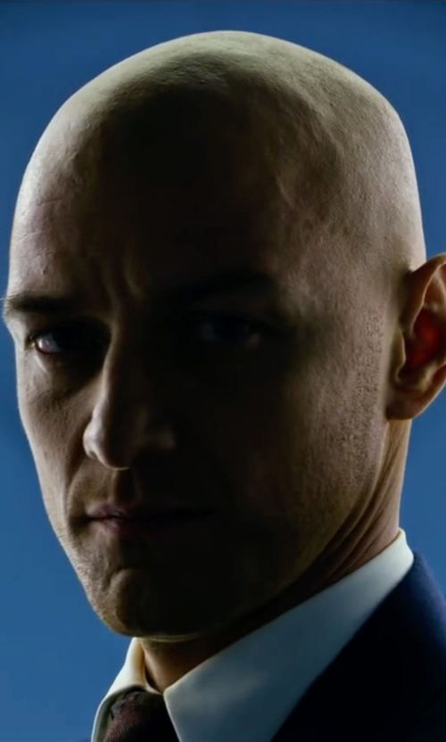 James McAvoy with John W. Nordstrom 'Dunella' Dot Wool & Silk Tie in X-Men: Apocalypse
