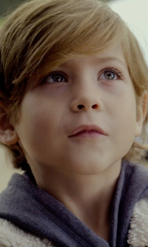 Jacob Tremblay with J. Crew Boys' Cashmere Hoodie in Before I Wake