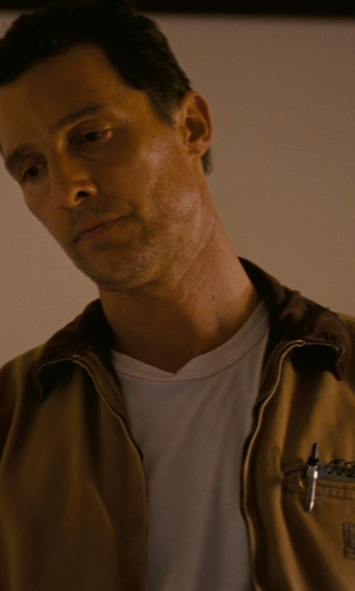 Matthew McConaughey with Carhartt Men's Weathered Duck Detroit Jacket in Interstellar