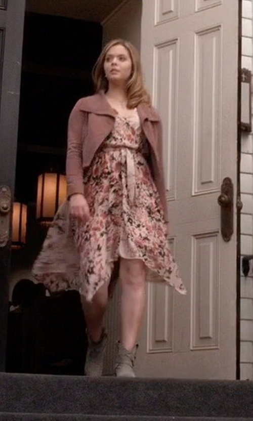 Sasha Pieterse with Sam Edelman Women's Petty Ankle Boots in Pretty Little Liars