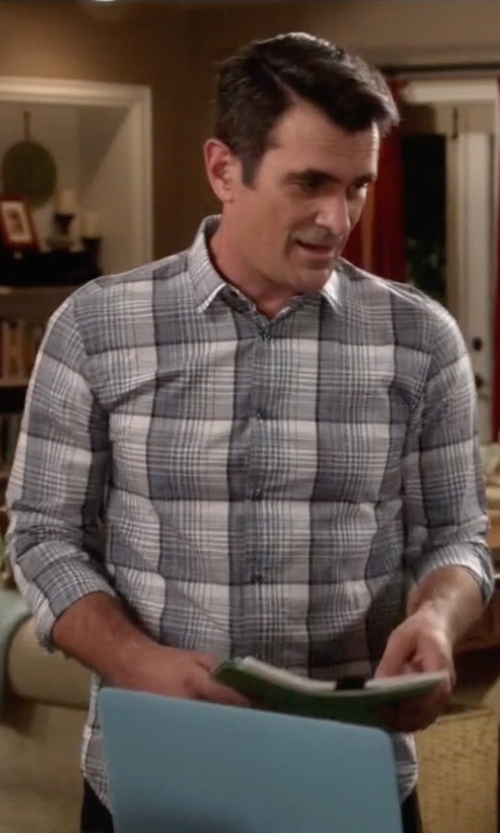 Ty Burrell with Belstaff Everett Flannel Sportshirt in Modern Family