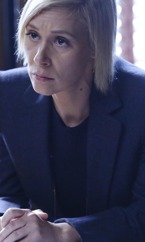 Liza Weil with Elie Tahari Stretch Wool Darcy Jacket in How To Get Away With Murder