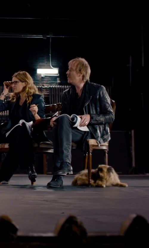 Rhys Ifans with Liu Jo Straight Leg Casual Pants in She's Funny That Way