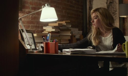 Imogen Poots with Crate & Barrel Slim Desk Lamp With White Shade in That Awkward Moment