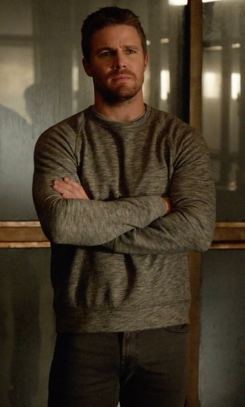 Stephen Amell with AG Adriano Goldschmied Protégé SUD Straight Leg Pants in Arrow