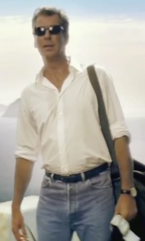 Pierce Brosnan with Trussardi Jeans Light Wash Denim Pants in Mamma Mia!