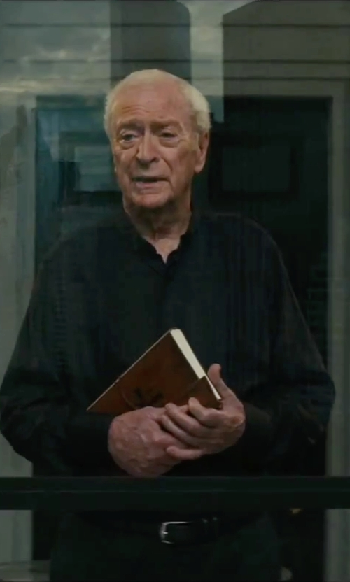Michael Caine with Cole Haan Burnished Edge Cow Belt in The Last Witch Hunter