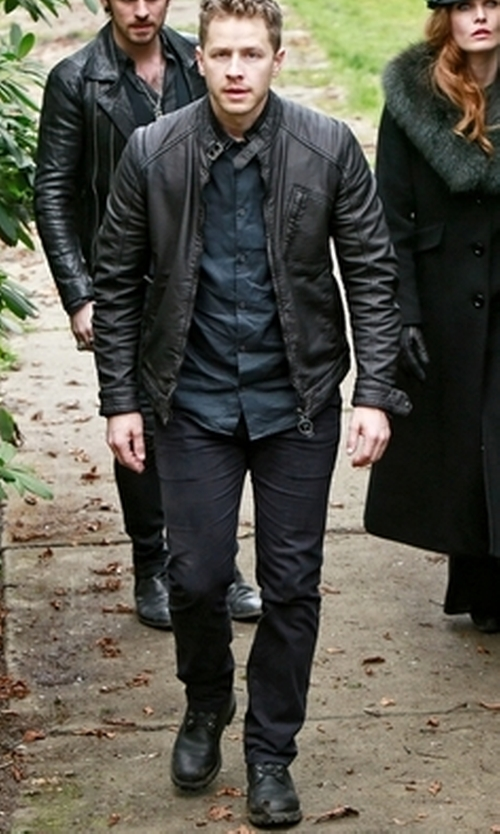 Josh Dallas with Frye Rogan Tall Lace Up Boots in Once Upon a Time