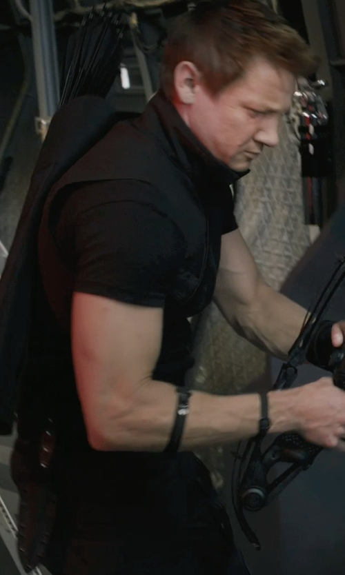 Jeremy Renner with Alexandra Byrne (Costume Designer) Custom Made 'Hawkeye' Vest in Marvel's The Avengers