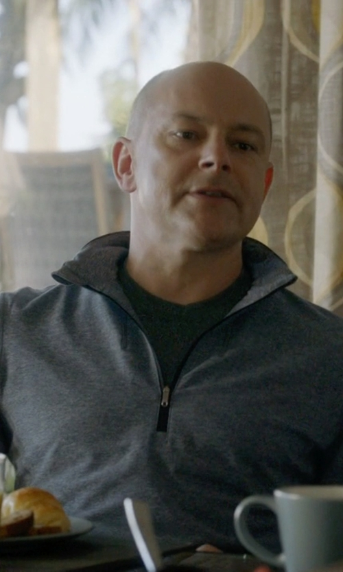 Rob Corddry with Cutter & Buck Wool Blend Half Zip Sweater in Ballers